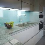 Modern kitchen clean interior design